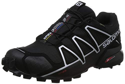 Salomon Speedcross 4 GTX, Scarpe da Trail Running Uomo, Nero (Black/Black/Silver Metallic-X) , 46 EU