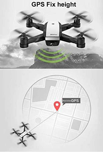 LM Drone Drones et caméras WiFi Quadcopter et 1080P caméra vidéo en Direct Hauteur Pliable Garder Mode sans tête GPS Retour Automatique 6