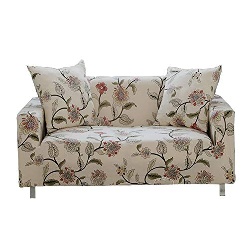 Enzer - Copri divano in tessuto elastico, motivo floreale con uccelli, protezione da animali per poltrona, divano, Flower Vine, 3 posti