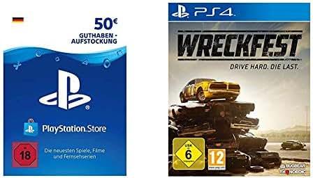 PSN Card-Aufstockung   50 EUR   deutsches Konto   PSN Download Code & Wreckfest [Playstation 4]