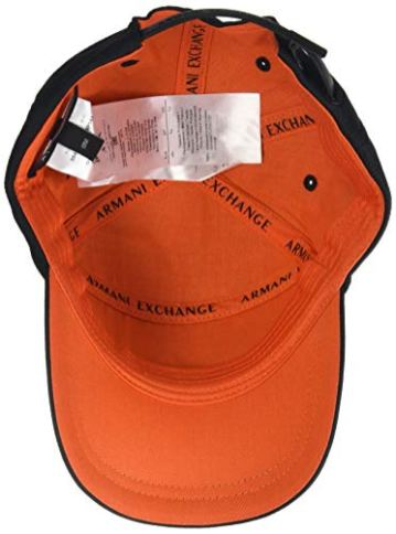 Armani-Exchange-3D-Logo-Baseball-Hat-Gorra-de-bisbol-para-Hombre-Negro-00020-nica-Talla-del-Fabricante-TU