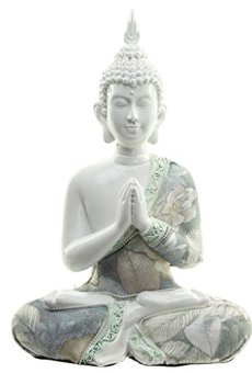 Decorativo floral Lotus de Buda figura decorativa–altura 23cm ancho 16cm Profundidad 9cm