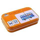 Tarjeta cognitiva para niños Universal con Caja de Transporte de Hierro Tarjeta de Aprendizaje para bebés Niños Inglés Aprender Herramienta Herramientas educativas