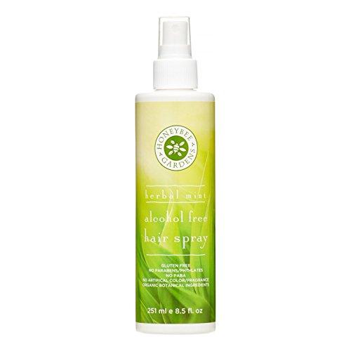 Spray para el cabello sin alcohol Honeybee Gardens, aroma a menta (251 ml)