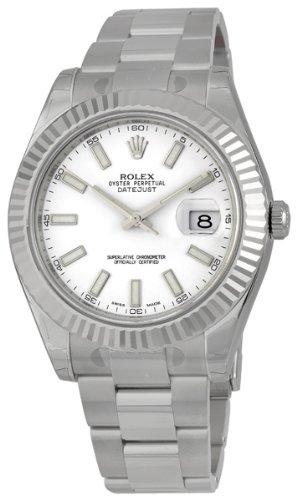Rolex Edelstahl Armband Datejust Auster Weiß Weiß Uhr Herren Stahl Zifferblatt Gold 18k II