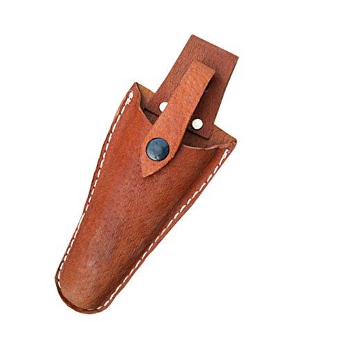 QEES Funda de cuero herramienta Holsters cinturón soporte para bolsa de jardinería Caso alicates, tijeras de podar, tijeras o jardín cuchillo de piel/Pouch (JDB01)