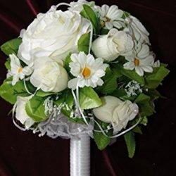 floristikvergleich.de Braut Strauss Blumen Strauß Brautstrauß blumenstrauß Seidenblumen Hochzeit BS01 (Varian 1)