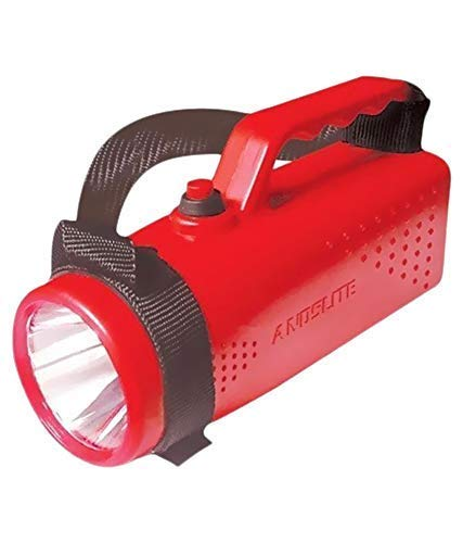 ANDSLITE Nano Plus LED Rechargeable Torch Light (Red and Black)