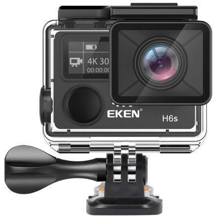 EKEN H6s Action Camera 4K EIS Image Stabilization 170°, Schermo LCD 2'', 2.4G WiFi Remote Controller Waterproof
