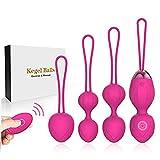Kegel Exercise Weights - 2 in 1 Massager Ben Wa Balls per principianti Upgradeed Silicone Wireless Remote Control Massager ricaricabile Pavimento pelvico Kegel Esercizio