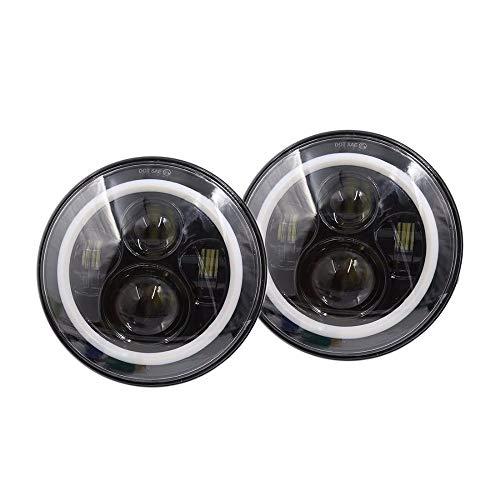 LED light bar Jeep Wrangler Headlights Kit di conversione del faro anteriore a LED da 7 pollici con...