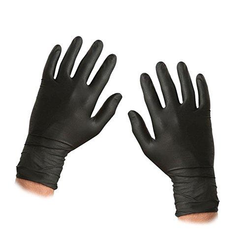 ASC nero guanti usa e getta in nitrile-Taglia Large-strutturato-Guanti da polvere e...