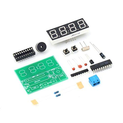 ONEVER Kit 3V-6V C51 4 Orologio elettronico Bit digitali Produzione Elettronica Suite Fai da Te