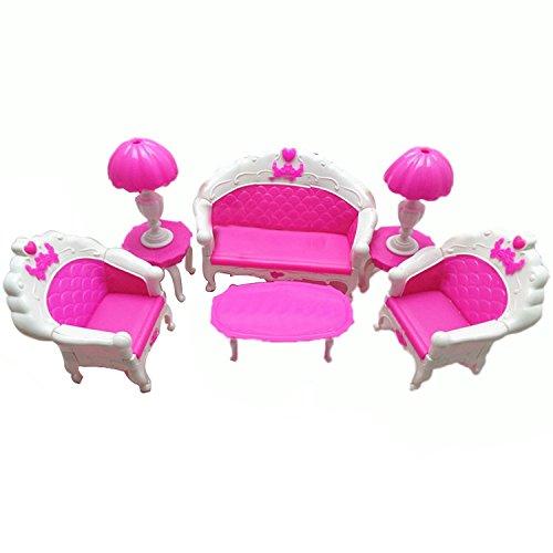 Mishiner 6 Pezzi plastica Mini mobili casa delle Bambole Salotto Salotto Divano Poltrona Divano...