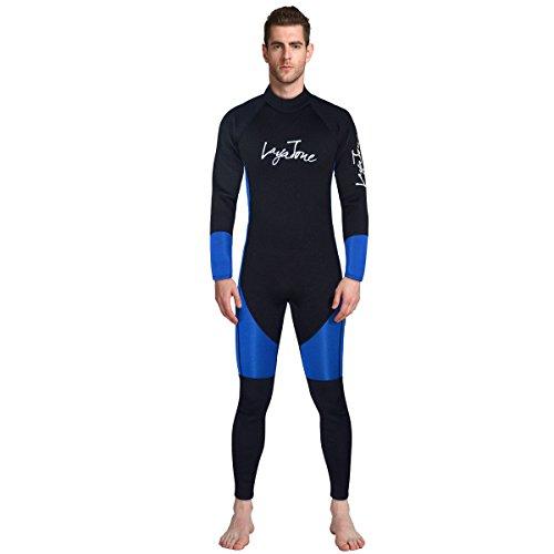 Layatone Trajes de Neopreno Hombre Traje de Buceo de Cuerpo Entero de Neopreno de 3mm Traje de Surf Protector UV Traje de Kayak para Buceo con Tubo de Respiración Salto de Natación Pesca en Barco