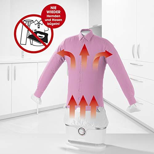 CLEANmaxx Ferro da stiro automatico per camicie e camicette, (asciugatura e stiratura di vestiti...