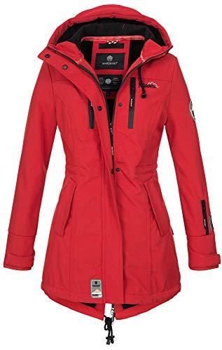 Marikoo Damen Winter Jacke Winterjacke Mantel Outdoor wasserabweisend Softshell B614 [B614-Zimt-Rot-Gr.M]