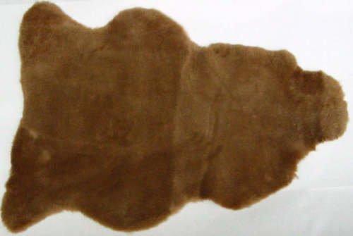 Fell In Forma Naturale, circa 90x 70cm lavagna in pelliccia di agnello camel 127