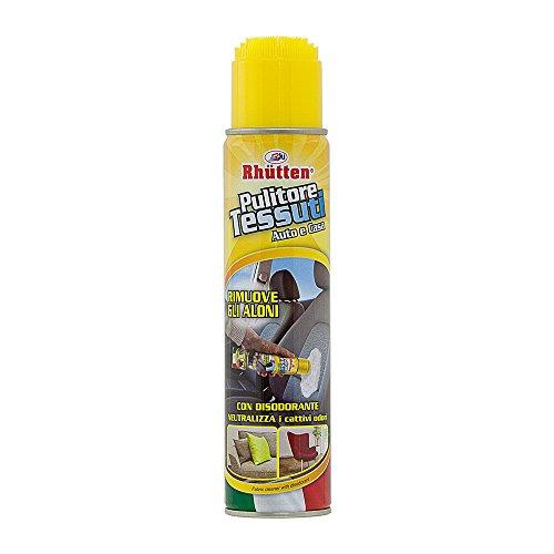 Rhutten 180716 Pulitore per Tessuti Spray con Spazzola, 400 ml