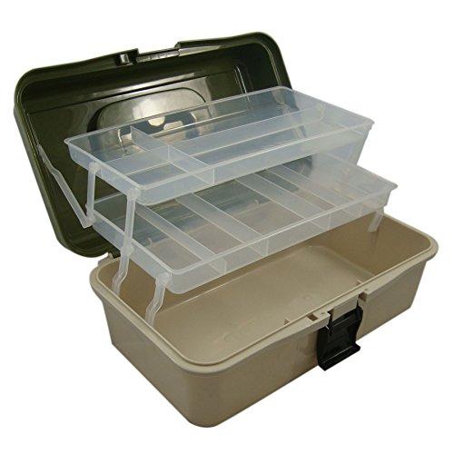 Lunar Box - Cassetta da Pescatore, con 2 Ripiani, Misura Grande