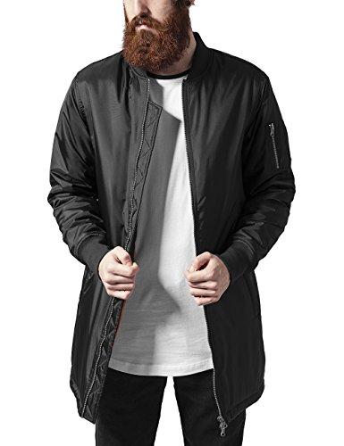 Urban Classics Long Bomber Jacket Giacca, Nero (Black), Large Uomo