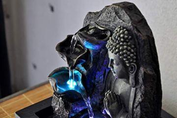 Zen'Light SPIRITUALITE - Fuente de polirresina de Color marrón Oscuro, 21x 21x 26cm. 9