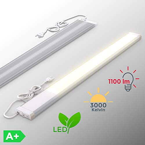 LED Unterbauleuchte | inkl. 10W LED Platine 1100 Lumen | 57,5cm | 3000K warmweiß | IP20 | Unterbaulampe | Küchenlampe