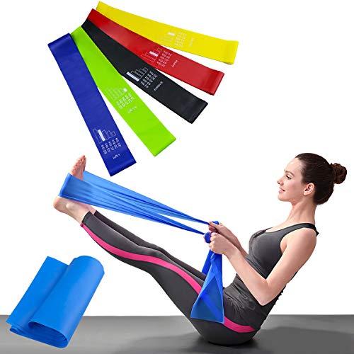 Magicfun Bande Elastiche Fitness Set di 6 Fasce Resistenza Bande, Lattice Naturale Loop Resistance...
