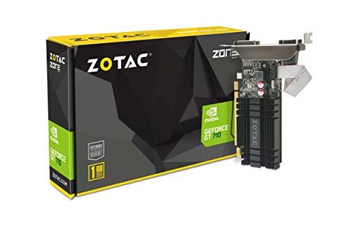 ZOTAC GeForce GT 710 1GB DDR3 ZT-71301-20L DVI-D + HDMI + VGA, PCI-E 2.0, Scheda Video