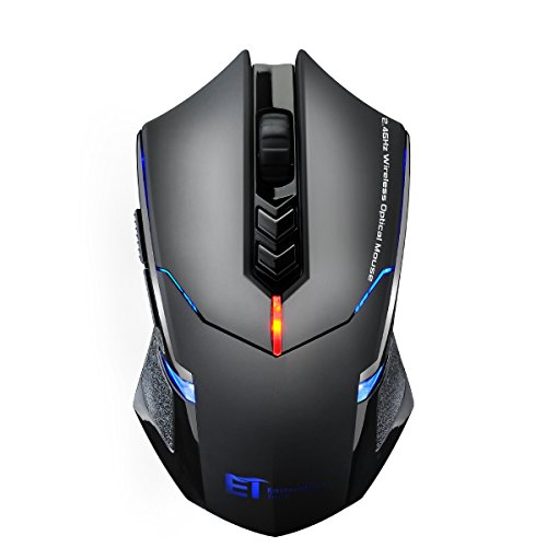VicTsing Mouse Gaming Wireless USB Mouse da Gioco Wireless Silenzioso 2400DPI, 7 Pulsanti...