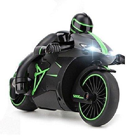 Zaid Collections High Speed Sports Bike Rechargeable Motorcycle with 2.4 GHz Remote Control & LED Headlights (Green)
