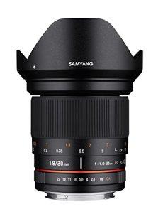 Samyang DSLR - Objetivo fotográfico para MFT (Micro4/3) (20 mm, F1.8 ED, AS UMC), negro