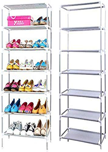 Sasimo 6 Layer Multipurpose Portable Folding Shoes Rack/Shoes Shelf/Shoes Cabinet with Wardrobe Cover, Easy Installation Stand for Shoes(Shoes Rack)(Shoes Rack, Shoes Racks for Home)_6 Layer Navy
