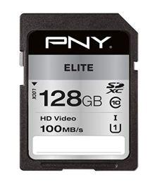 PNY High Elite XС 128GB Memoria Flash SDXC Clase 10 UHS-I - Tarjeta de Memoria (128 GB, SDXC, Clase 10, UHS-I, 100 MB/s, 90 MB/s)