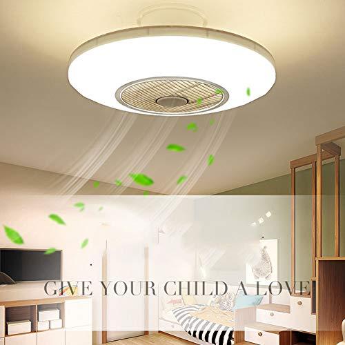 XDDY Deckenventilator Mit Beleuchtung Und Fernbedienung Leise Led Wohnzimmer Lüfter Kühler Deckenleuchte Schlafzimmer Lampe Büro Kinderzimmer