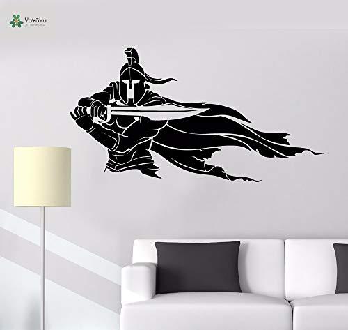 Decalcomania della parete del vinile Spartan Knife Knife Handsome Cool Boy Room Home Art Decoration...