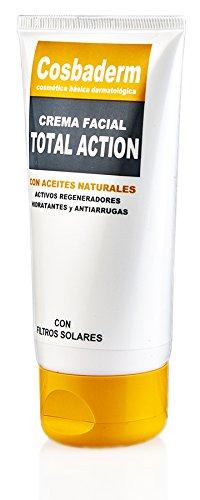 Cosbaderm Total Action Crema Facial Con Colágeno Marino, Aceite De Oliva,Raiz Del Traidor, Aloe Vera Y Centella Asiatíca 75 ml