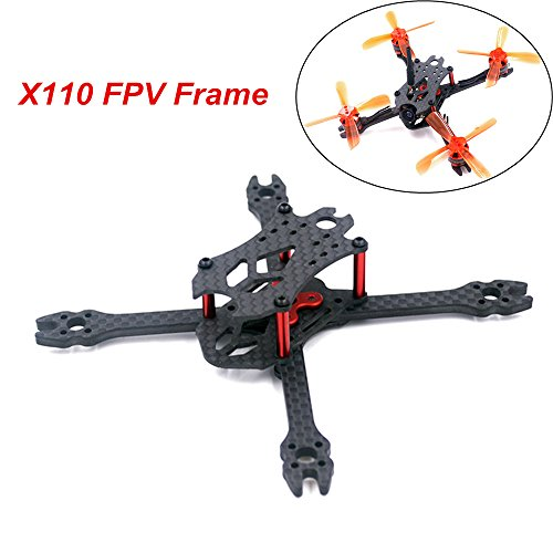 DroneAcc X 110mm Mini FPV Racing Drone Frame Carbon Fiber Quadcopter Frame Kit for