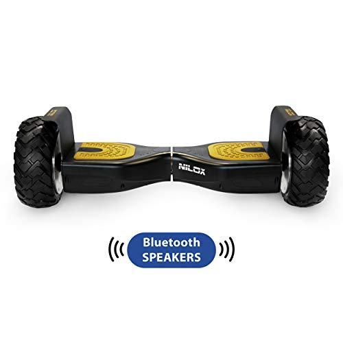 Nilox Doc Self Balance Scooter Elettrico Off Road Plus con Certificazione UL 2272, connessione...