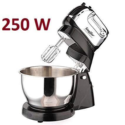 SONIFER 4-LTR, 5 Speed Stand Hand Mixer Blender with Rotating Bowl.