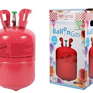 Bouteille d'hélium 0,25 m3 hélium pur pour Air Swimmers, pour gonfler environ 30 ballons en latex de 20 cm helium pour mariage fête anniversaire soirée adulte enfant Kit hélium à usage unique bonbonne