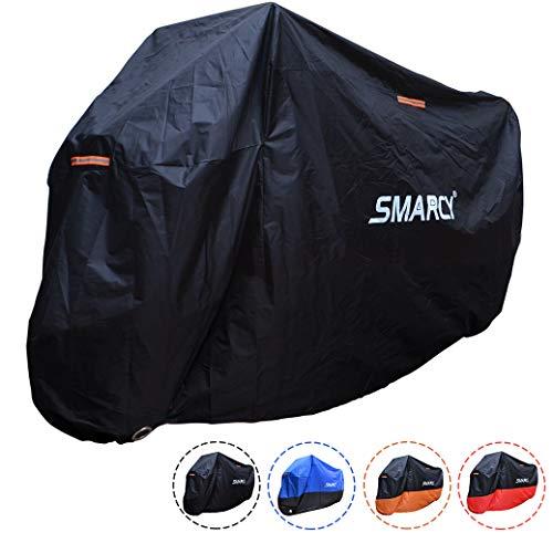 Smarcy Funda Protector para Moto, Cubierta para Moto / Motocicleta Resistente al Agua a Prueba de UV, Color Negro XXXL