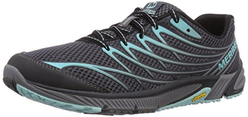 Merrell Women's Bare Access Arc 4 Trail Running Shoe Black/Aventurine 5 B(M) US