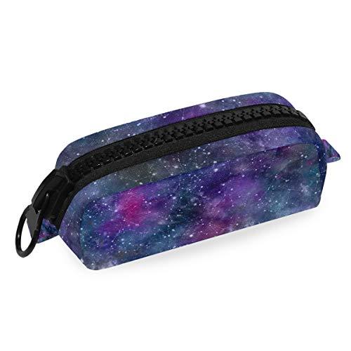 Portamatite in tela con stampa della galassia dell'universo, astuccio per cancelleria per studenti,...
