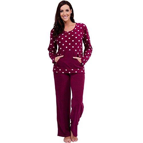 Para Mujer Caliente Invierno Polar Pijama Establece