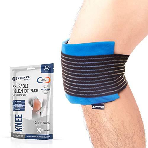 GelpacksDirect - Bolsa de gel para aplicar frío y calor - Con banda de compresión - Para lesiones...