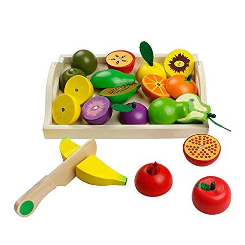 jerryvon Giochi in Legno Taglio Frutta Verdura Bambini Legno Montessori Educativo Giocattoli di...