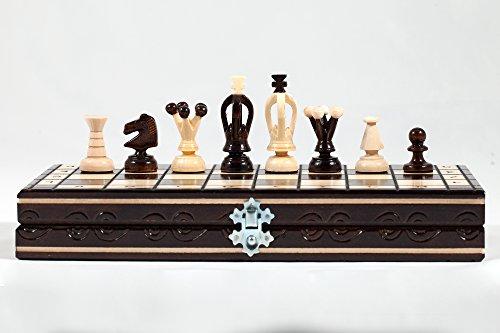 """""""THE REGNO"""" SCACCHIERA IN LEGNO – ECCELLENTE MANO CRAFRED 31x31cm"""