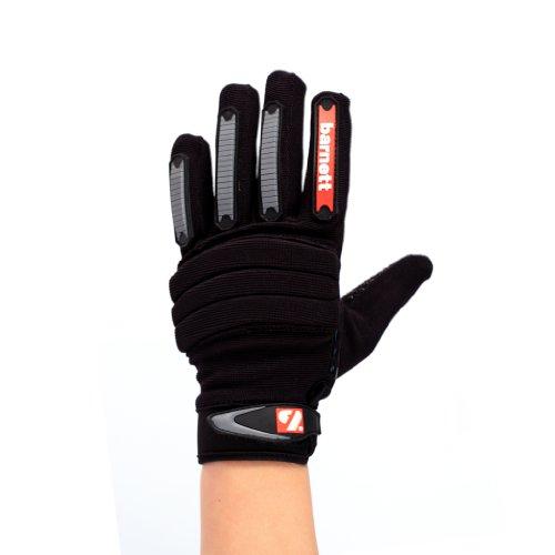 barnett FKG-02 guanti da football americano da linebacker fit, LB,RB,TE colore nero (XL)