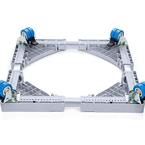 DRAGDZ Base per Lavatrice Congelatore,Piedistallo per Lavatrice,Con Ruote Girevoli 4 × 2,Supporto...
